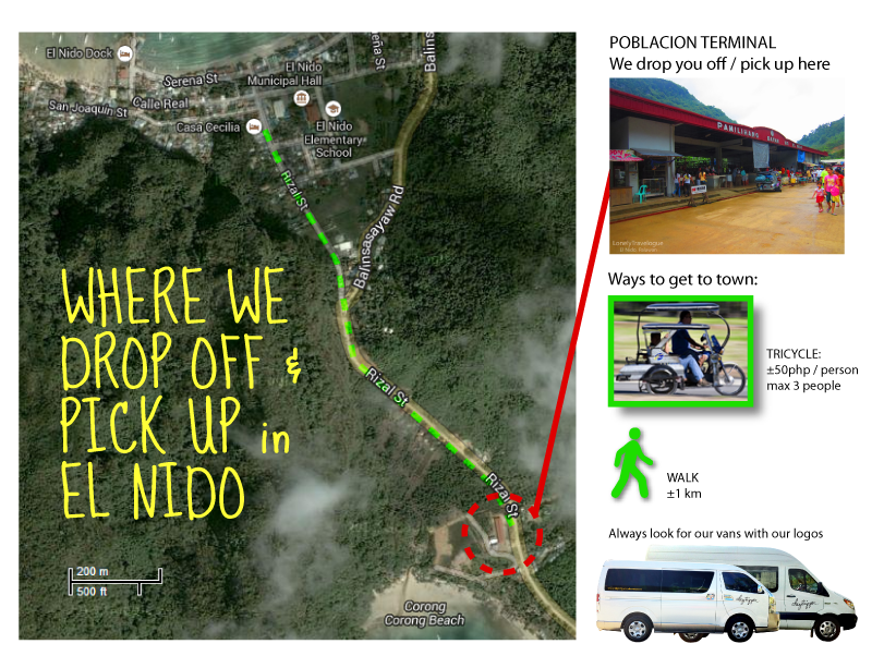 About your trip to and from El Nido